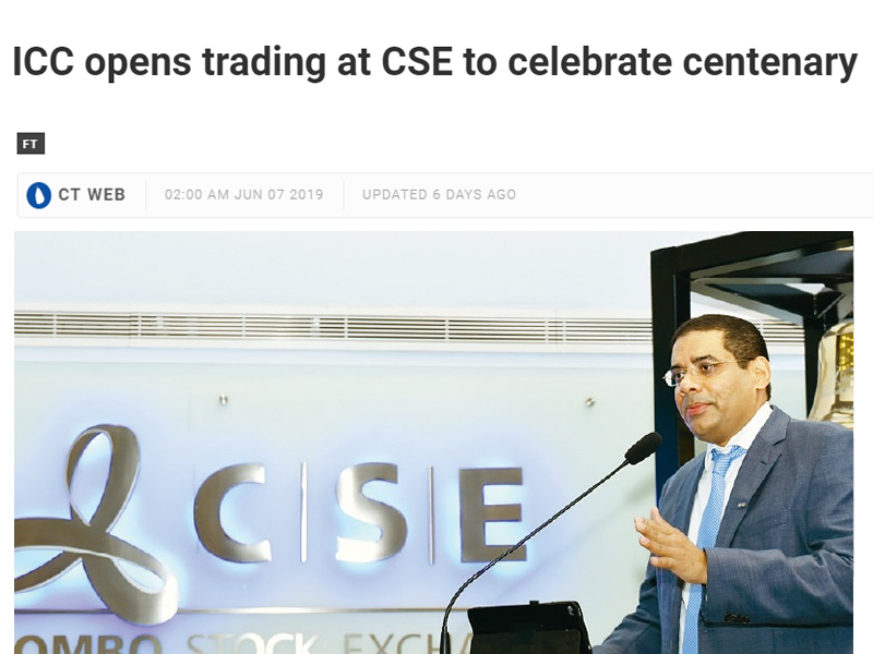 icc-opens-trading-at-cse-june-7